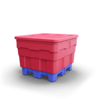 The P360 is a sanitary bulk, all plastic, easy-to-clean, efficient-to-ship container perfect for use by food manufacturers. The P360 is slightly shorter than the P390.