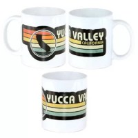Yucca Valley Retro Mug A retro style graphic for the Town of Yucca Valley, California. The image is printed all the way around the mug. The design is imprinted in the surface of the mug and is both dishwasher and microwave safe. Did you know that Joshua Tree Mug Company makes all the items we sell with renewable energy?  We do!  In fact, we now generate more than 65 kWh a day with solar power which provides for more than 90% of the entire Innovus Companies energy usage footprint, all thanks to...