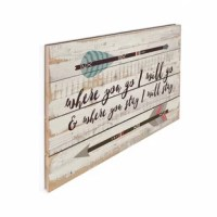 Crafted from natural, kiln-dried pine slats to provide an element of authenticity, this hand-assembled sign is designed to bring a warm, rustic touch to any home. Includes sawtooth hangers for wall application and alignment.