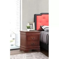 If you're only focusing on the pillows and sheets in your sleepy space, you're missing one of the most important parts: the nightstand! Build your bedside ensemble from the ground up with this piece, offering the perfect perch for a gleaming lamp and storage space inside for nighttime essentials. Made from solid and manufactured wood, it offers a traditional appearance with molded trim and a solid finish.