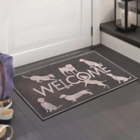 This stylish and unique doormat makes a perfectly fun addition to any porch, patio area or door. Use this mat to catch dirt as your guests enter your home or as decoration to show off your love of felines. This doormat withstands seasonal changes and can be used outside all year long. This transitional style copper and black rubber doormat is the perfect way to spruce up your floors and home decor while maintaining a level of practicality.