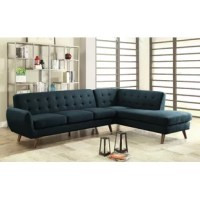 Enjoy cozy family movie nights and host classy cocktail parties alike all at this stylish sectional sofa. The perfect centerpiece for your seating arrangement, it blends contemporary appeal with simple sophistication. The upholstery is accented with a jumbo stitch detailing and tufted accent for a refined yet understated look. The sofa and the chaise can be separated if you need to make more space in your living room ensemble.