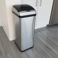 Keep your hands and home clean! Let this Sensor 13 Gallon Touchless Trash Can help make your life easier!  Equipped with air vents for easy trash bag removal and a retainer ring to keep the trash bag in place and out of sight. Eliminate the need to touch another sticky and dirty trash can lid and enjoy the ease of cleaning.