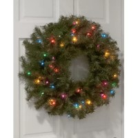 It is a thick, full wreath featuring many more branch tips than other wreath styles of similar size. This wreath can be displayed on doors, walls, and windows in indoor or outdoor locations.