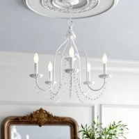 Andrews 5 - Light Candle Style Classic / Traditional Chandelier with Crystal Accents
