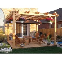 The Pergola is ideal for a large family enjoying a meal around the table or for some shade by the pool. This pergola is precut and easy to assemble.