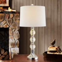 Craft from top-grade crystals, These elegant table lamps bathe your space in luxe lights with rainbow sparkle. This 28