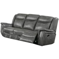 Revamp your seating space by incorporating this contemporary style power sofa, featuring a padded seat and cushioned backrest for a comfortable seating space. It comes with a reclining mechanism facilitated with a power push button. The drop-down table offers storage drawer, 2 cup holding space, power cord and USB docks to expedite your daily chores.