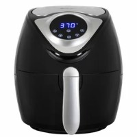 Don't settle for soggy microwave results or wait to pre-heat your oven. Our Digital Air Fryer gives you the fried restaurant quality texture you want and with up to 80% fewer calories! Using rapid air technology, circulated superheated air surrounds your food, cooking it quickly and evenly from all angles. Oil isn't necessary, meaning you get healthier food and less leftover fried aromas that can fill your home. Clean up is easy thanks to a non-stick coating, making this the perfect all-around...