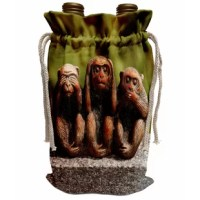 3 Monkeys, hear, see, speak no evil Wine Bag is a Great Eco-Friendly Alternative to Plastic or Paper. Over the last two decades, there has been a conscious effort towards shifting from environmentally harmful products to more sustainable and organic ones. As such, Reusable Wine Bag provides a comprehensive alternative to plastic or paper bags that may be flimsy, and hard to carry. Reusable wine bags have proven to be an effective way to reduce carbon footprints. 3dRose wine bags do not need to...