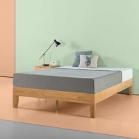 This Wood Platform Bed Frame is beautifully simple and works well with any style of home decor. The frame and legs are made of wood to support your memory foam, latex, or spring mattress.