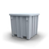 This rugged, durable bulk container made of High Density Polyethylene (HDPE) has features that contribute to easy lifting and storing and is taller than the P291.