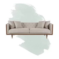 The anchor of your seating ensemble, sofas like this one lends you a space to gather friends and family together or sprawl out with a good book, all while tying together your room's style. Crafted with a solid wood frame, this piece features a streamlined box silhouette founded atop four tapered spindle legs, making it a great option for adding a sleek, mid-century-inspired touch to your living room. And thanks to the foam-filled fabric upholstery, this piece is perfect for an inviting seat. A...