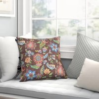 Beautiful art by Jackie Von Tobel creates a botanical themed design ground for this printed indoor/outdoor pillow. The vibrant fabric used to create the product is water repellent and works best when used in a covered or partially shaded area. The face and back are made from soft woven polyester. The image is printed on both the front and back making the pillow reversible. Filled with recycled polyester microfiber, the pillow is a perfect focal point or finishing touch both inside and out. Spot...
