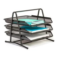 With all the thinking, planning, dreaming, envisioning, drafting, creating, and strategizing you're doing each day, give your mind the gift of space. The 3 tier mesh metal desk tray organizer from our mesh collection is designed to store your office consumables in an airy yet sturdy compact desk organizer that feels at home in your office space – or any space.