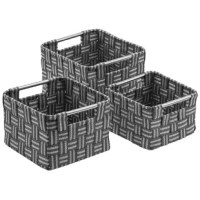From household items to unruly toys, conceal some of the most common clutter with style.  This product offers a decorative way to organize your space. It features 3 baskets of various sizes to organize your essentials. Store your favorite keepsakes, photos, office supplies, travel sized products, and much more. For easy transport, the sturdy handles on each side make this set portable for carrying around the home. Designed with a practical basket weave pattern and rounded corners, this set...
