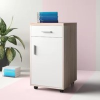 Does your desk have some space issues? Resolve them easily with this 1-drawer mobile filing cabinet - the perfect partner to your home office desk! Crafted from engineered wood, this piece boasts a clean-lined design for a modern look, and a two-tone finish that gives your space a neutral touch. Place a flower vase or accent piece on its spacious surface top. Down below, store away books, files, and office supplies in the one pull-out drawer and large cabinet. Plus, if you're looking to switch...