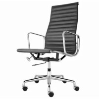 ribbed vinyl seat and polished aluminum arms
