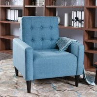 This Armchair combines classic elegance with unique stitching and button tufts for a modern feel. Softly padded with a stable frame, you'll be able to enjoy it for years to come. It is the perfect place to sit back and enjoy a movie with your family, curl up with a book, or chat with a friend, this piece is a must-have for your home. The cushion is extra padded to ensure maximum comfort and the wooden legs are perfectly styled for the classic look. Enjoy this armchair in your home today.