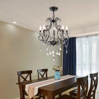 Aren 5 - Light Candle Style Classic / Traditional Chandelier with Crystal Accents