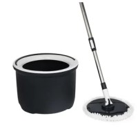 The all in one bucket cleaning solution will soak, rinse and dry.  Easily rinse you're your mop by pushing up and down the mop pole and dry by simply pushing the pole up and down. The kit includes a foldable head and easily locking pole latch.