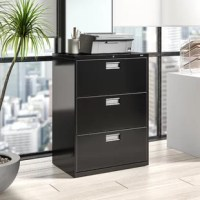 Well-engineered and incredibly strong, Brigade 600 Series 3-Drawer Lateral Filing Cabinet from HON is built for the demands of high activity filing. This 3 drawer features a sturdy double-walled base to resist tampering and strengthen the case. It accepts letter or legal hanging file folders and has bright aluminum handles.