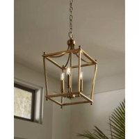 Offer a modern spin on a timeless design with the Lantern-style metal frames create an airy structure ideal for emitting ambient light over memories being made below. Inside the frame perch smooth, simple light bases ready to offer your home a lovely glow.