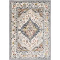 The area rug showcases traditionally inspired designs that exemplify timeless styles of elegance, comfort, and sophistication. The meticulously woven construction of this piece boats durability and will provide natural charm into your decor space.