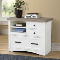 Add instant function to any space with this versatile 3-drawer. An innovative pull-out tray and pull-out tabletop give you extra workspace. Available in white, denim blue, cranberry red, and dove gray, this home office essential are as fashionable as it is functional.
