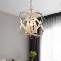 Enliven and uplift your room with this effulgent chandelier. Antique bands swirl around stunning crystals and four candelabra bulbs for a glimmering and incandescent accent for any space in need of ambient illumination.
