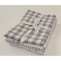The perfect accessory  for any kitchen with our  checker and stripes white/gray kitchen towels, 5 pieces set, 18
