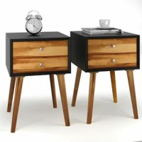 Are you finding a nightstand for your bedroom? This nightstand which is designed in concise and rustic style is a good choice for you. The nightstand is mostly made of solid acacia wood and high-quality MDF. Therefore, the entire structure of this nightstand remains very solid and durable. In two drawers, you will have additional storage space to put some small articles and they can be easily to find when you need them. On the tabletop, you can place some of your decors like photo frame or...