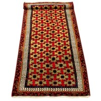 Kula rugs are woven in the Caucausus region of Turkey. Strong Kazak influnces are found in the design of the Kula rugs. With 100% vegetable dye, the field color tends to be red with the designs in a multitude of colors.