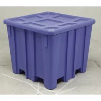 This rugged, durable bulk container, similar to the P333, is made of High-Density Polyethylene (HDPE) and has a unique loading and unloading features for even greater ease of use.