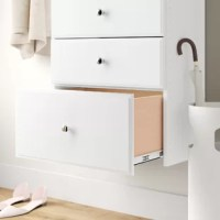 Bring order to your bedroom, closet, or office with the addition of this versatile hutch drawer. Made in the USA from manufactured wood, it measures 12'' H x 24'' W x 19'' D to fit with a compatible hutch (sold separately). Full-extension ball-baring glides (included) let you easily access clothes, supplies, or other items stashed inside so you can stay organized. Installation hardware is included so you can get set up as soon as it arrives.