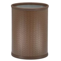 This Waste Basket features upscale leatherette vinyls that have an old world charm. Beautifully textured and appointed, it is a proven winner.