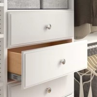 Whether you don't have the square footage for a dresser, or you're just looking to organize your closet, this versatile drawer is here to help. This piece is made in the USA from manufactured wood, and it measures 24.5