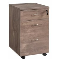 Expedite your work load by incorporating this transitional style file cabinet to your workstation, featuring spacious storage with 3 drawers storage. Supported on casters for mobility, it is incorporated with pull handles to facilitate easy access to the drawers.