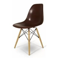 This Coatesville Dining Chair features a clean, simple form sculpted in one piece out of durable beige polypropylene. The seat is supported by solid steel frame.