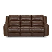 This collection is designed for the complete comfort experience. This sofa offers a rich leather or soft upholstery option while accented nailhead trim draws attention to detail.