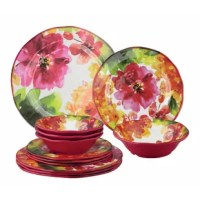 This melamine dinnerware set are attractive, functional and a welcome addition to any indoor or outdoor table. It's shatterproof and food safe properties make it the perfect entertaining piece. Easy to clean and top-rack dishwasher safe.