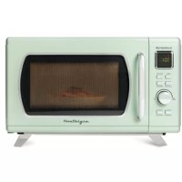 This 0.9 cubic foot microwave still has all the conveniences of modern microwaves, while still staying true to its clean and sleek Mid-Century retro design. It features 8-pre programmed cooking settings and a bright LED display, making usability simple. Five power levels and 900-watts of power are perfect for reheating leftovers or cooking food.