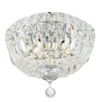 It doesn't get more glamorous than a crystal light. It will be hard to ignore the Roslyn fixture when you walk in a room.  Draped in an abundance of faceted cut crystal jewels, this contemporary collection is a perfect statement to a living room, hallway, bathroom, or entry.
