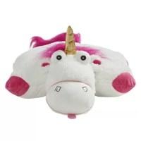 Fluffy the Unicorn is the most cuddly animal/pillow you can find with its soft snugly fabric. Kids of all ages will enjoy the practicality of everyday use as both a toy for imaginative play and a pillow for television, bed or travel time. This super-soft plush folding stuffed animal is so cuddly they'll never want to put it down! This Pillow Pet is an ideal nap-time companion – not to mention a perfect accessory for road trips or airplane rides. Pillow Pets are anything but just another...