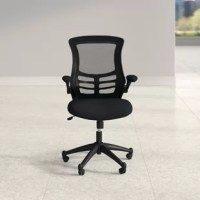 Office in need of an update? Whether you're working from home or sitting in a conference room, you'll be perfectly perched atop this essential desk chair. Founded atop a five-wheel rolling base, it easily floats between your workspace, the printer, and the filing cabinet. Its steel frame strikes an understated silhouette, showcasing a neutral black finish. Foam padding makes the seat comfortable, while a mesh back allows for support that conforms to your own body. Plus, this piece is adjustable...
