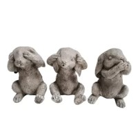 A trio of bunnies, they are a visual reminder to
