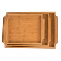 Bamboo bed trays are the perfect set of trays for eating breakfast in bed. The bamboo nesting bamboo bed trays include 3 bamboo trays each a size smaller than the other. Crafted from easily renewable bamboo resulting in environmentally friendly material. Adds a natural touch to any room. Each tray is equipped with handles that have been crafted with a rounded appearance making the trays easy to carry from the kitchen to the bed. Trays easily nest together making it simple to compact and stow...
