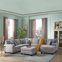 This modular sectional with ottoman is the unique design for all sofa lovers who would like to build, mix and match for their own preference. It really benefits the person who would like to build and fit into the desired space. It is built with quality material for lasting use.