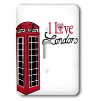 I Love London Red Telephone Booth Light Switch Cover is made of durable scratch resistant metal that will not fade, chip or peel. Featuring a high gloss finish, along with matching screws makes this cover the perfect finishing touch.
