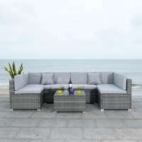 The living room sectional moves outdoors with fabulous modern flair in this Living Set. Strong and chic, texture-rich frames support luxurious cushions, making for lavish outdoor lounging.
